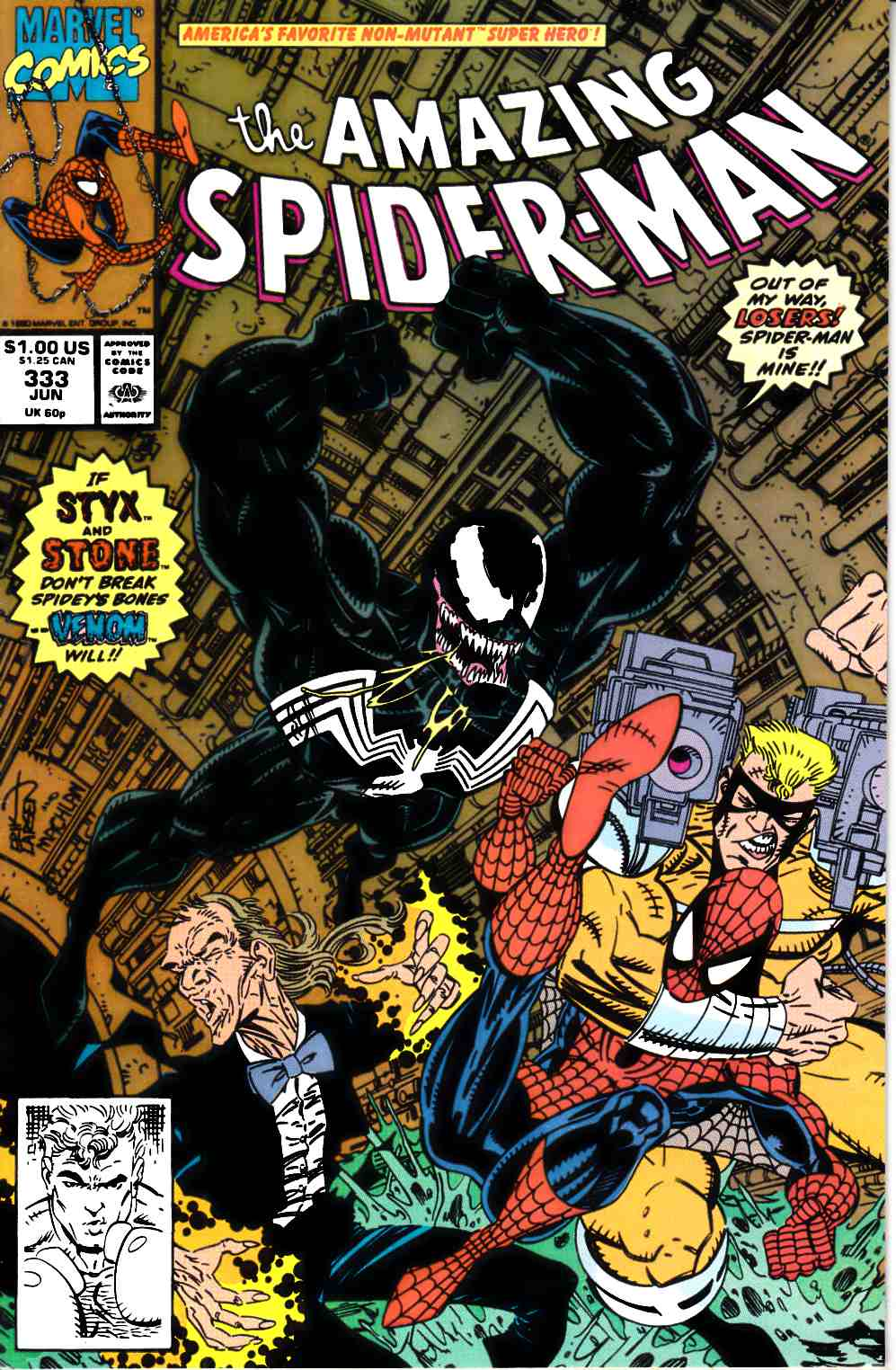 Amazing Spider-Man #333 Near Mint (9.4) [Marvel Comic] LARGE