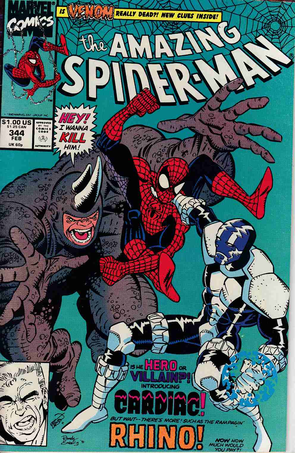 Amazing Spider-Man #344 Very Fine Minus (7.5) [Marvel Comic] LARGE