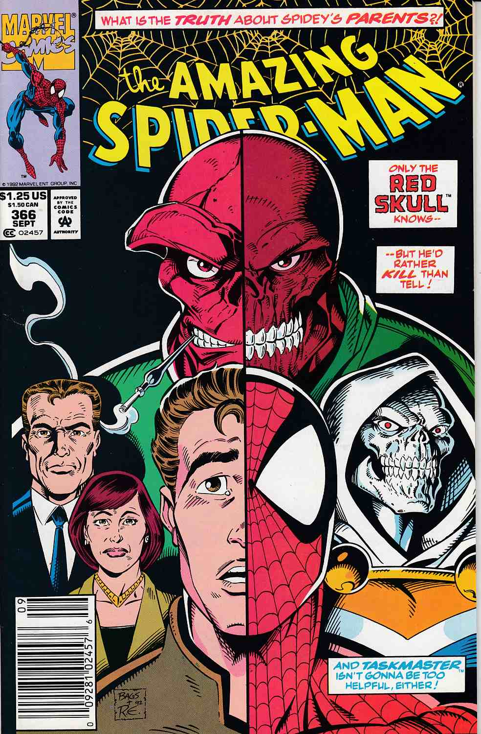 Amazing Spider-Man #366 Newsstand Edition Very Fine (8.0) [Marvel Comic] LARGE