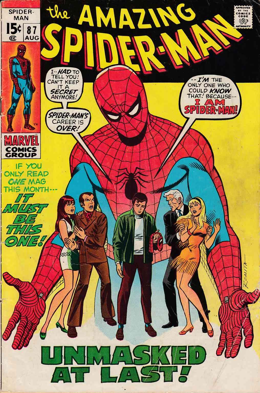 59399115cc3 Amazing Spider-Man  87 Good Very Good (3.0)  Marvel Comic ...