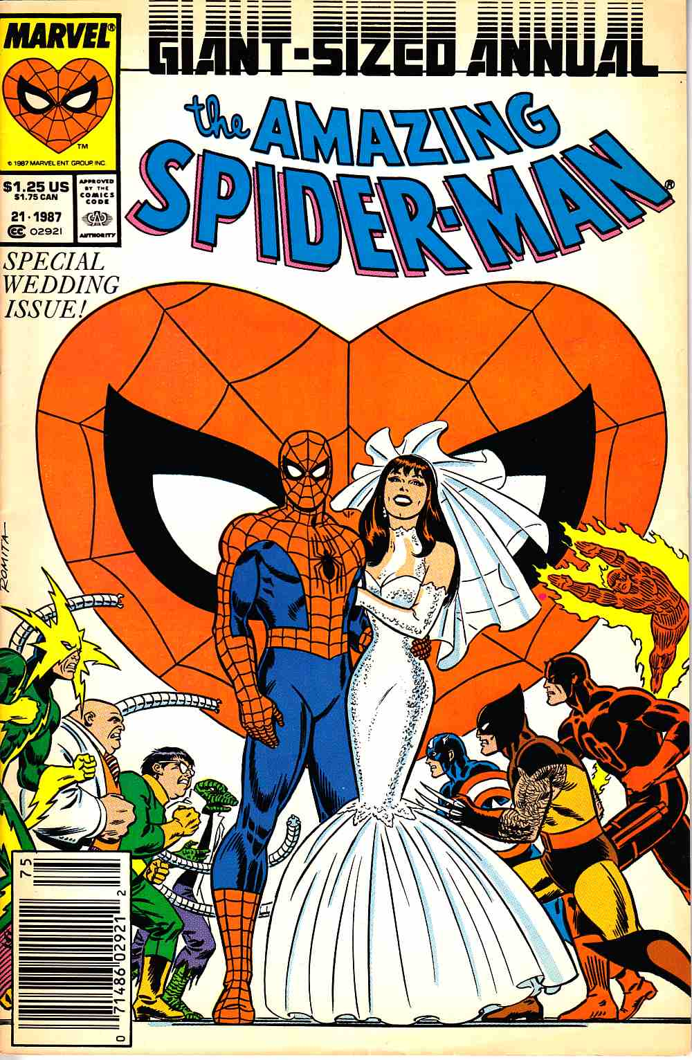 Amazing Spider-Man Annual #21 Newsstand Edition Fine/Very Fine (7.0) [Marvel Comic] THUMBNAIL