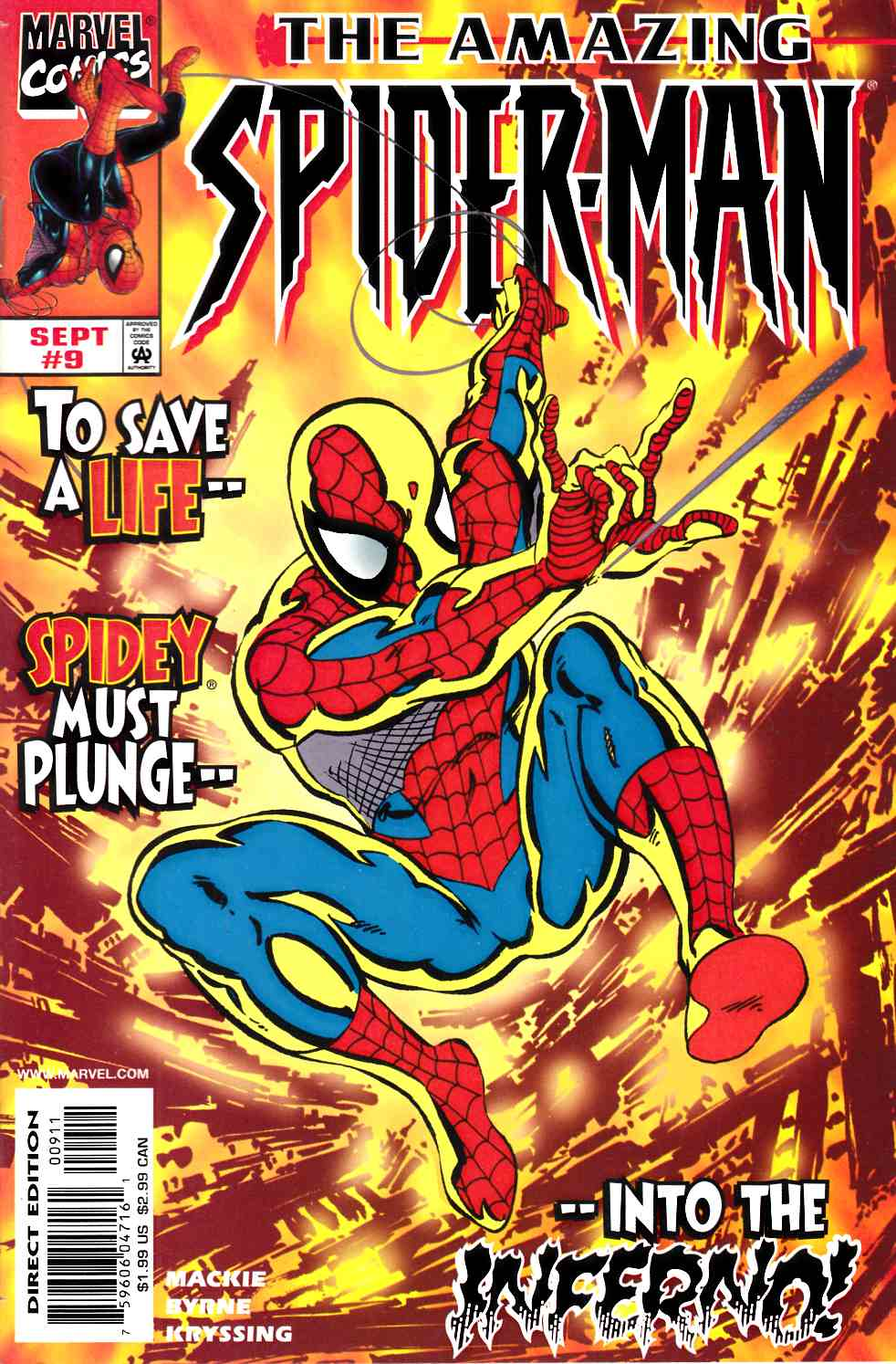 Amazing Spider-Man #9 Near Mint (9.4) [Marvel Comic] LARGE