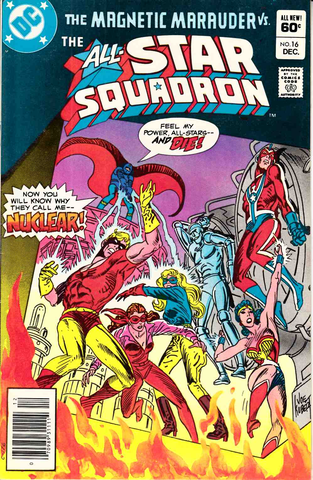 All Star Squadron #16 Newsstand Edition Very Fine Minus (7.5) [DC Comic] THUMBNAIL