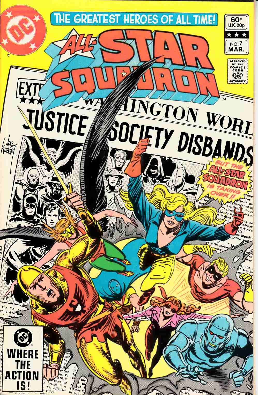 All Star Squadron #7 Near Mint (9.4) [DC Comic] THUMBNAIL