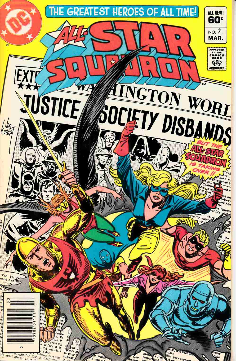 All Star Squadron #7 Newsstand Edition Near Mint (9.4) [DC Comic] THUMBNAIL