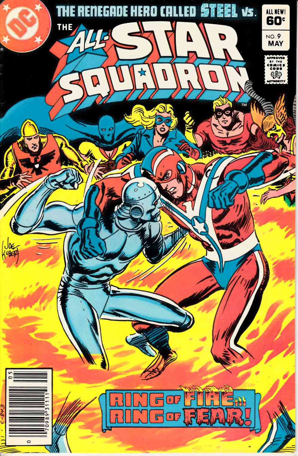 All Star Squadron #9 Newsstand Edition Very Fine (8.0) [DC Comic] THUMBNAIL
