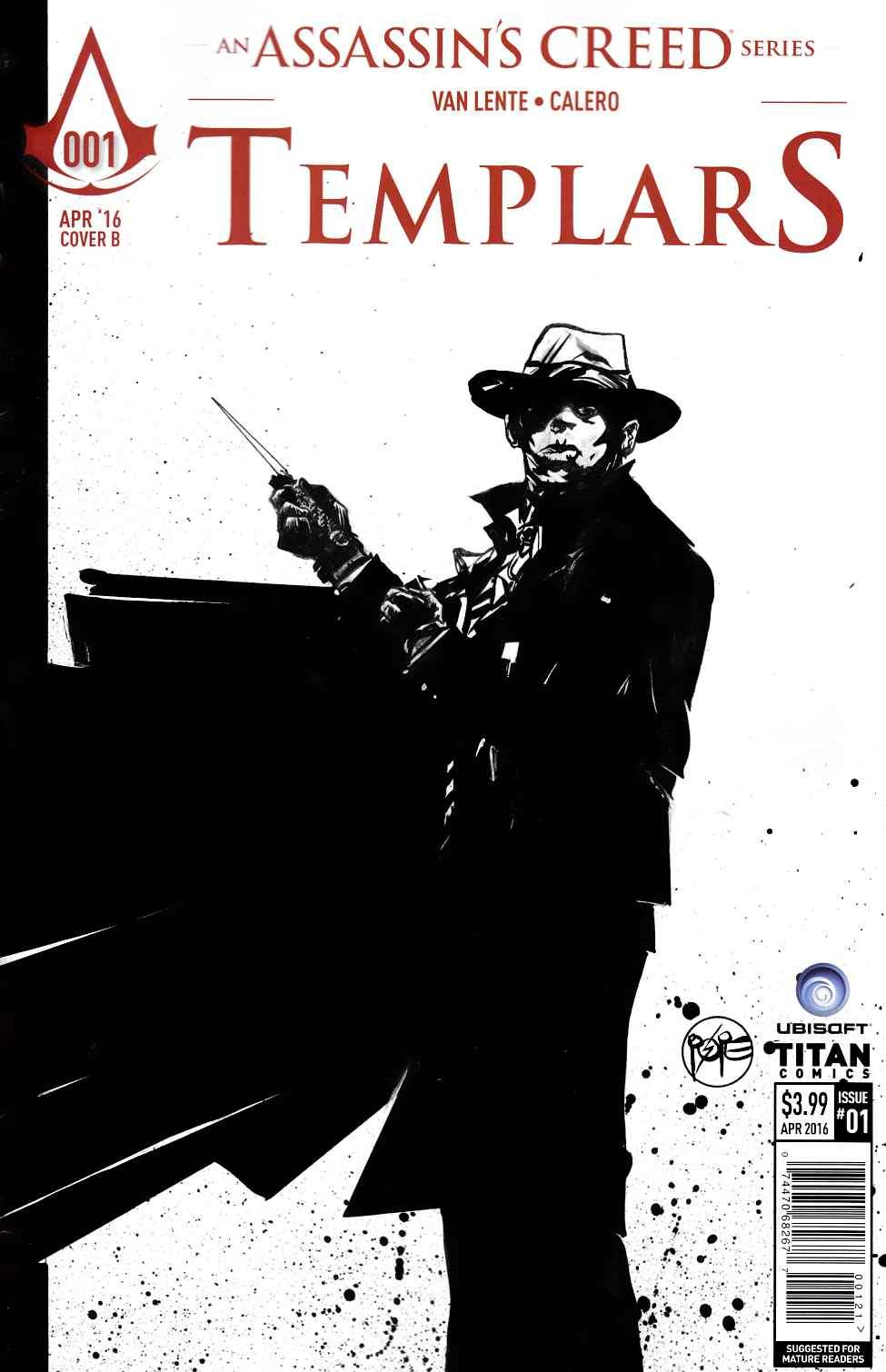 Assassins Creed Templars #1 Cover B- Pope [Titan Comic] THUMBNAIL