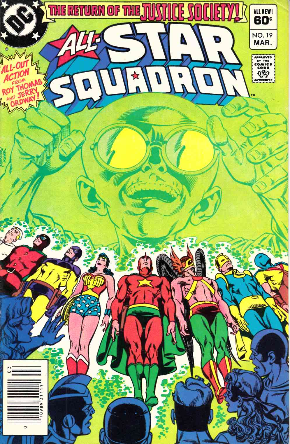 All Star Squadron #19 Newsstand Edition Very Fine Minus (7.5) [DC Comic] LARGE