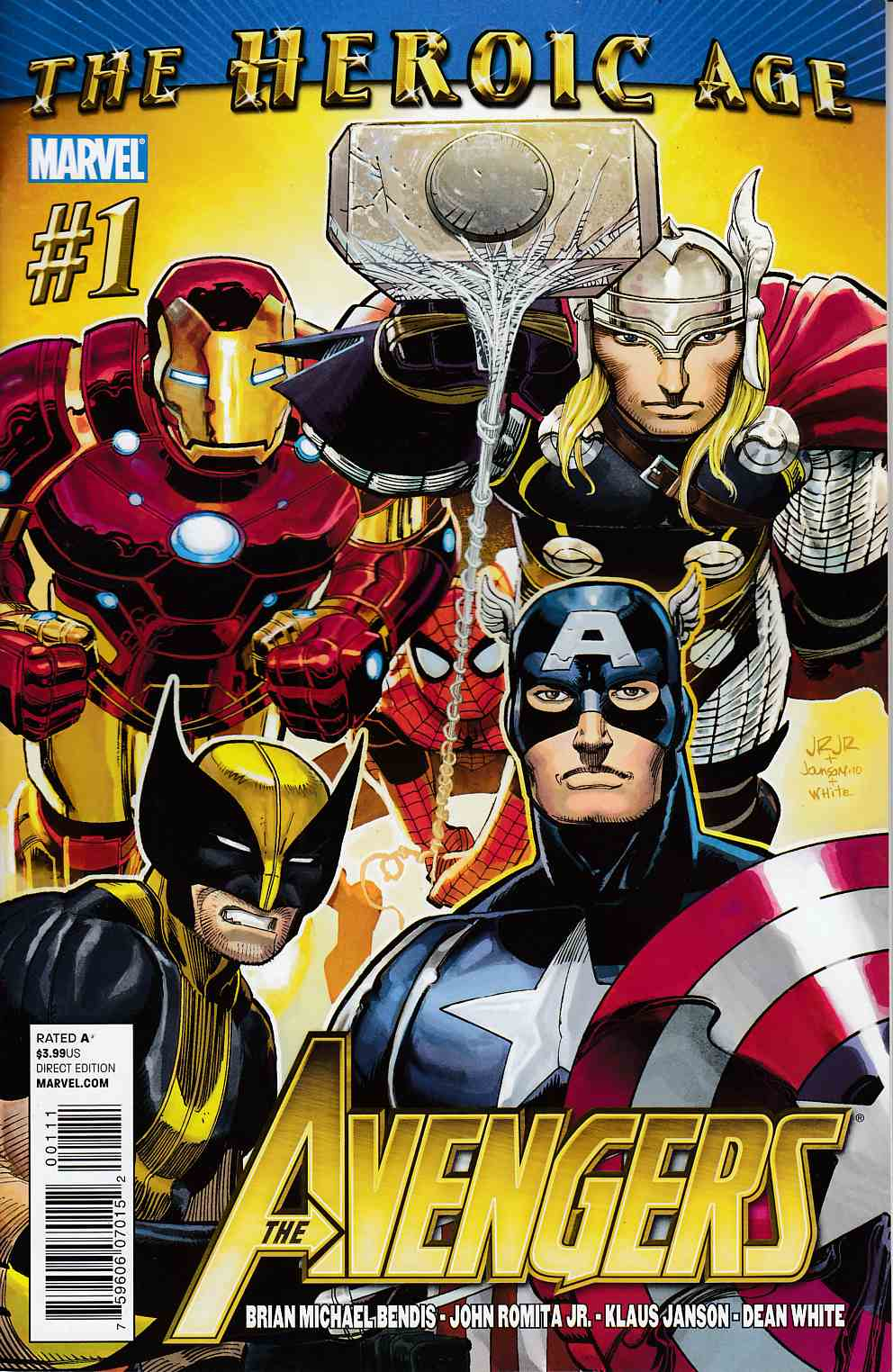Avengers #1 Very Fine (8.0) [Marvel Comic]