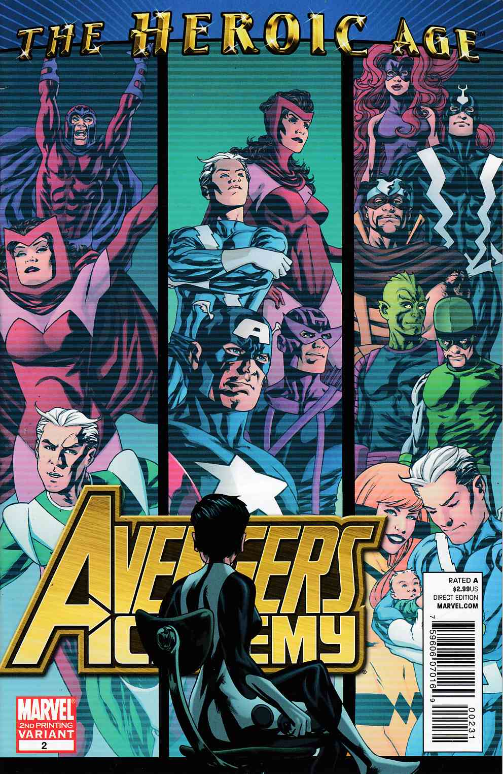 Avengers Academy #2 Second Printing Very Fine (8.0) [Marvel Comic]_THUMBNAIL