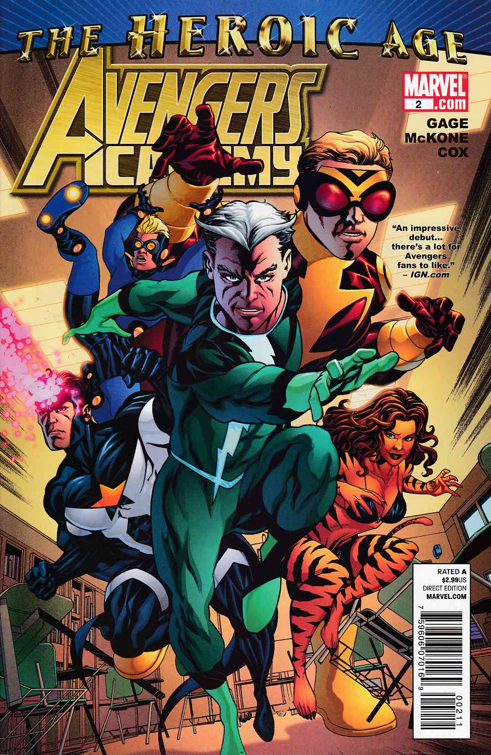 Avengers Academy #2 Very Fine (8.0) [Marvel Comic] LARGE