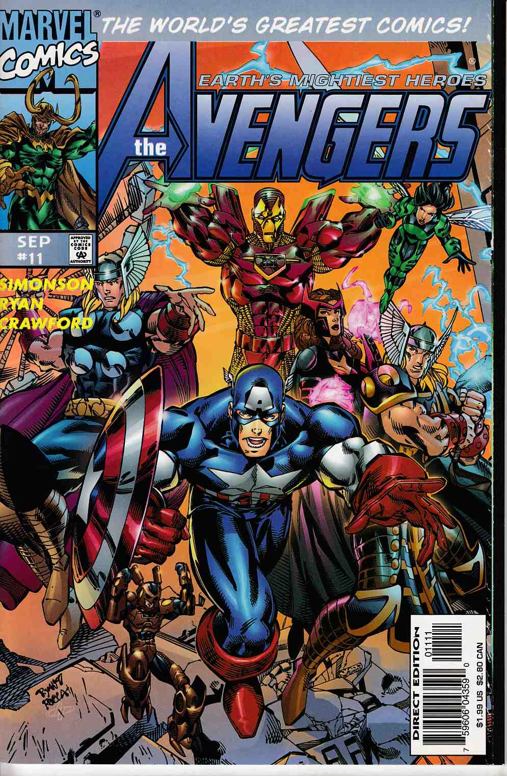 Avengers #11 Near Mint (9.4) [Marvel Comic] THUMBNAIL