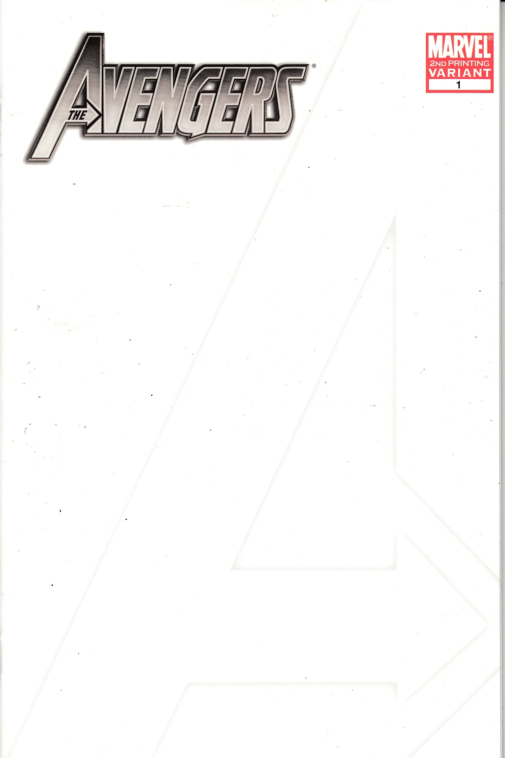 Avengers #1 Blank Cover Second Printing Near Mint (9.4) [Marvel Comic]