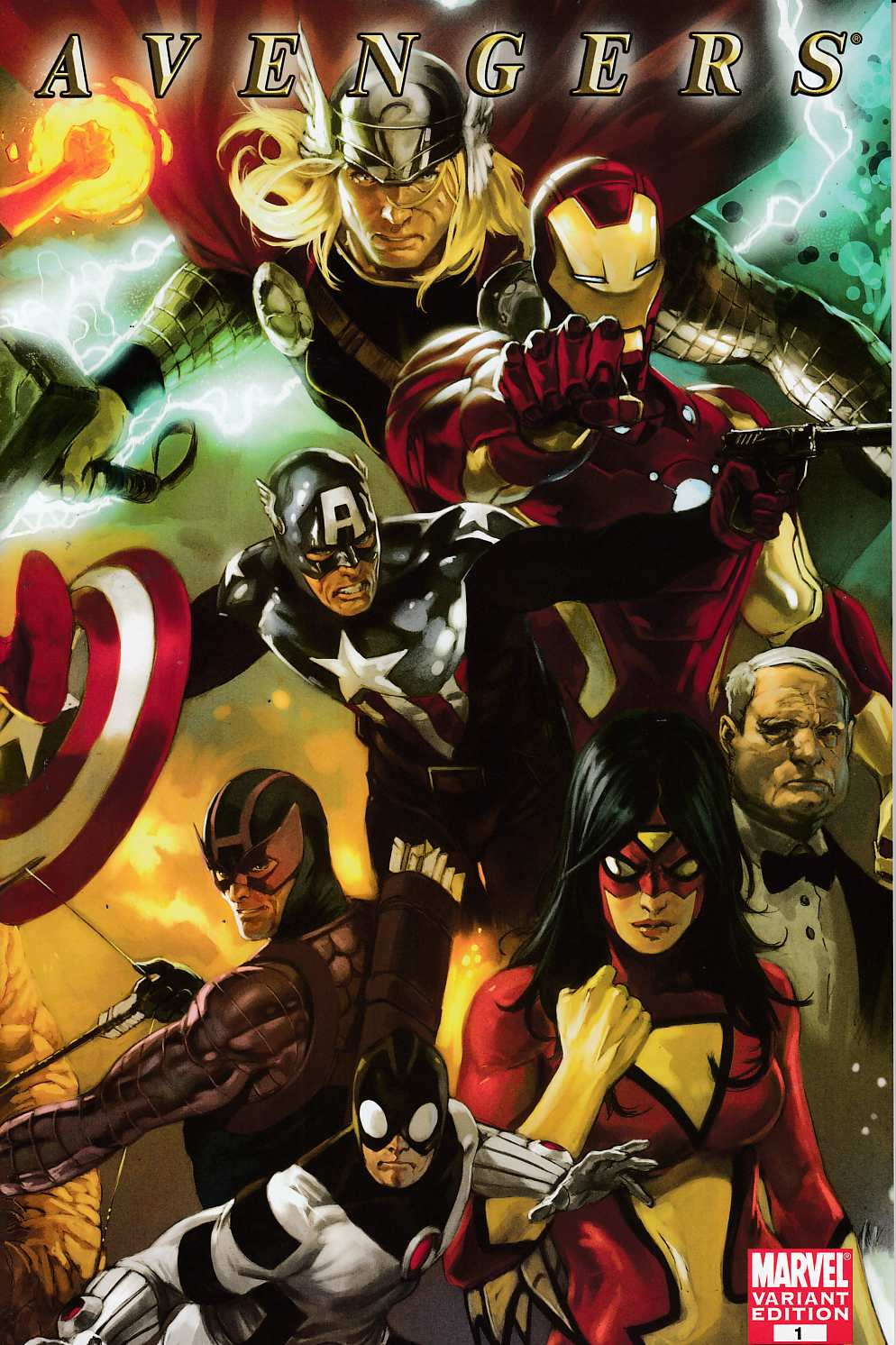 Avengers #1 Djurdjevic Variant Cover Very Fine (8.0) [Marvel Comic]