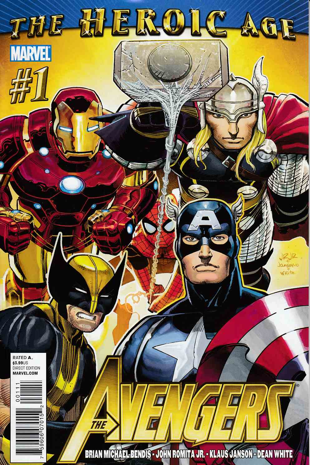 Avengers #1 Near Mint (9.4) [Marvel Comic]