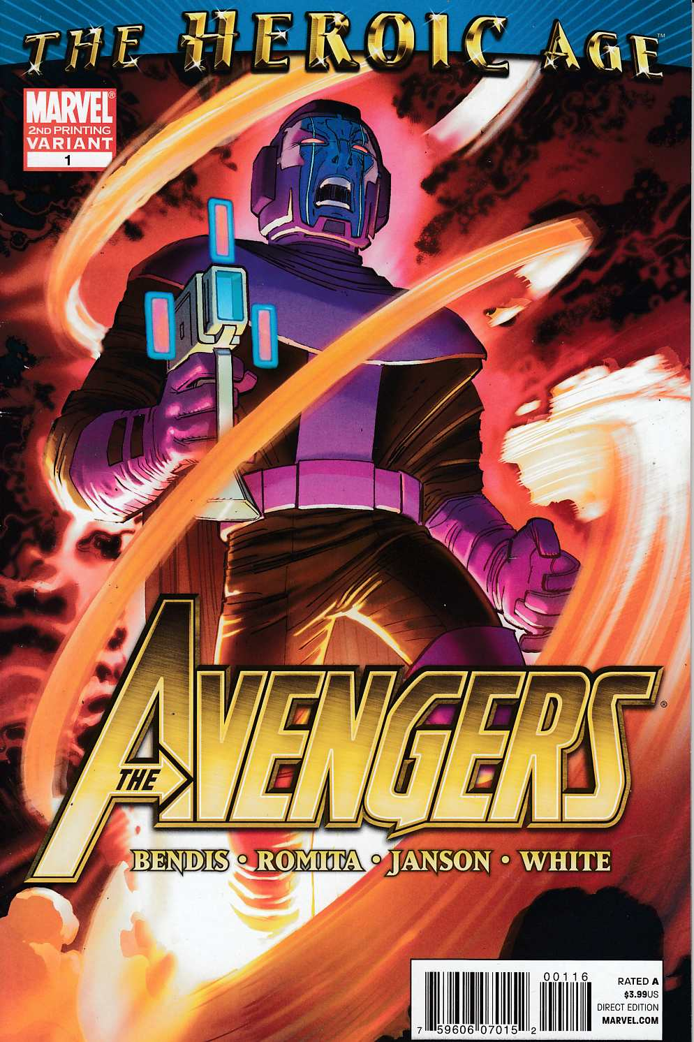 Avengers #1 Second Printing Very Fine Minus (7.5) [Marvel Comic]