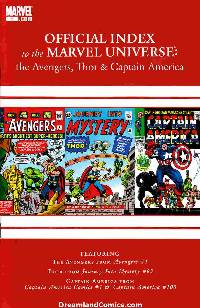 Avengers thor captain america official index #1 LARGE