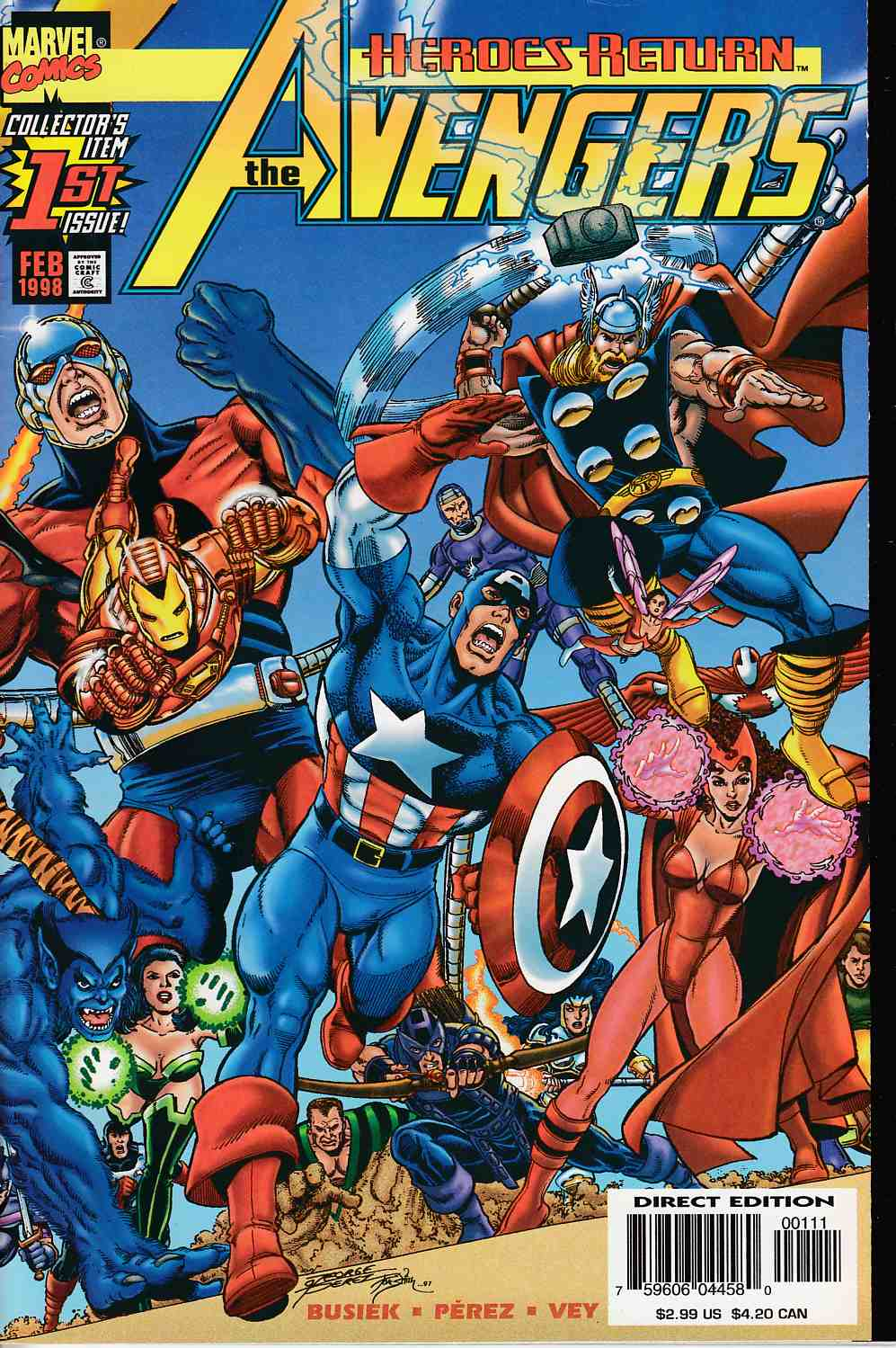 Avengers #1 Near Mint (9.4) [Marvel Comic] LARGE