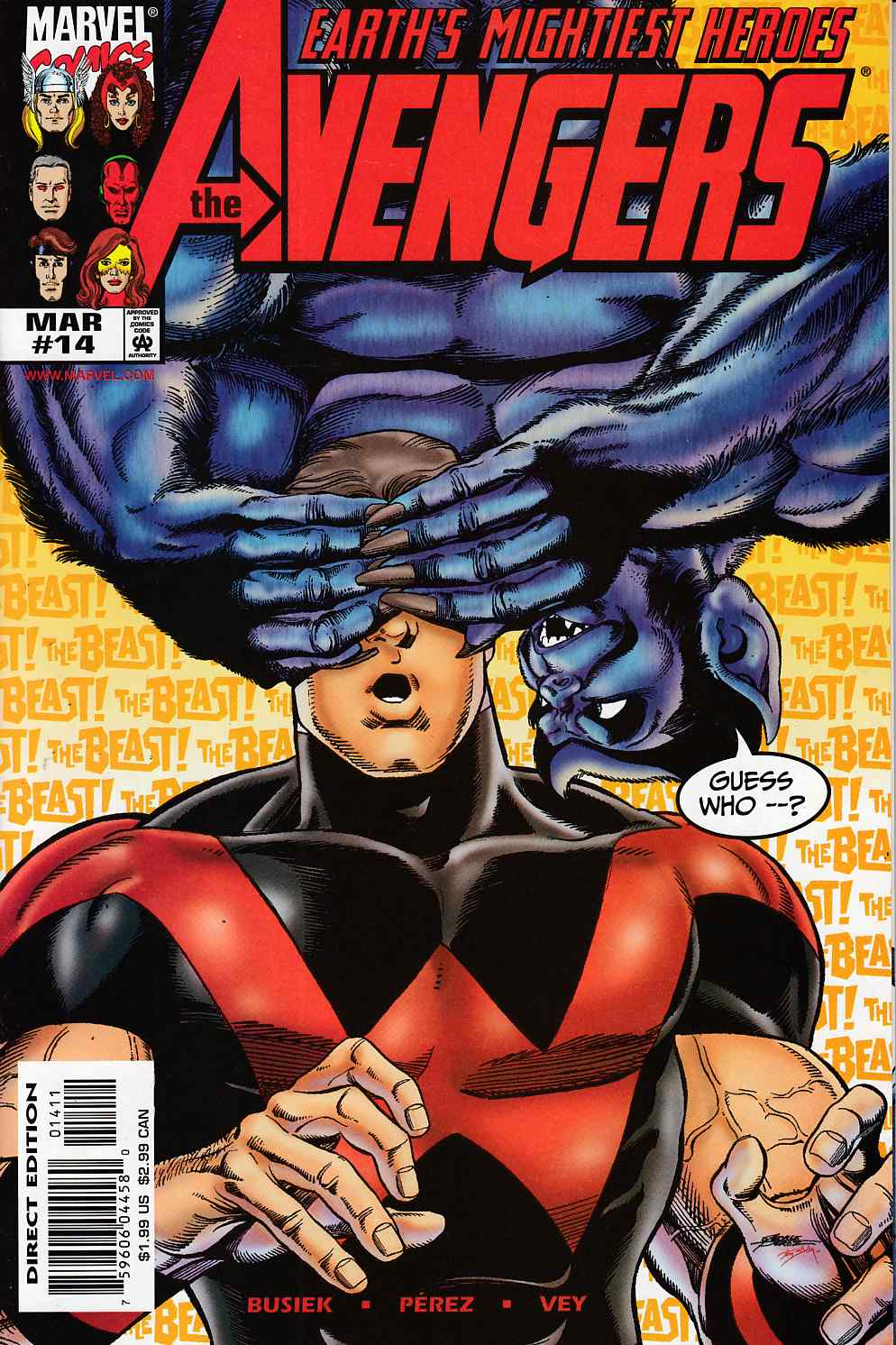 Avengers #14 Near Mint (9.4) [Marvel Comic] LARGE