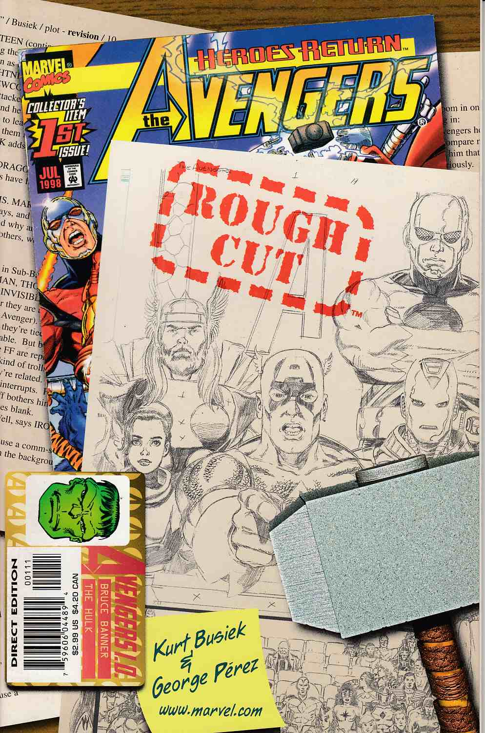Avengers #1 Rough Cut Edition Near Mint Minus (9.2) [Marvel Comic] THUMBNAIL