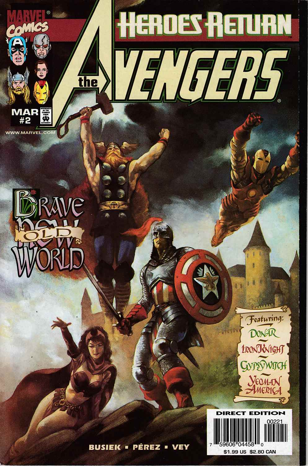 Avengers #2 Cover B Near Mint (9.4) [Marvel Comic] LARGE