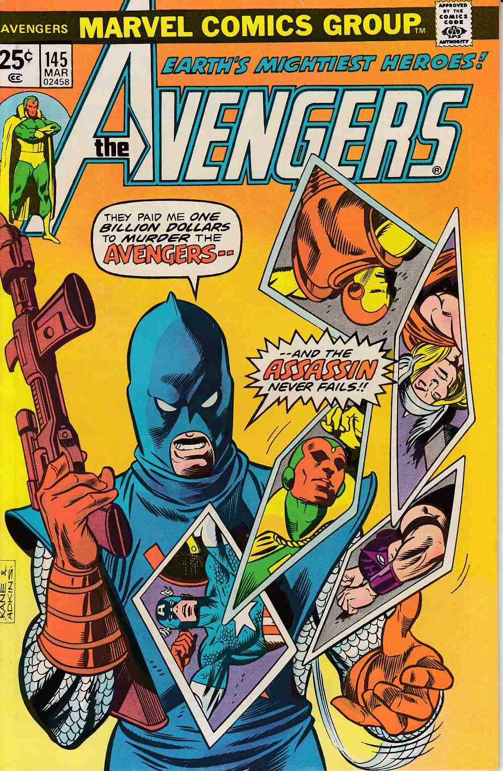 Avengers #145 Fine (6.0) [Marvel Comic]