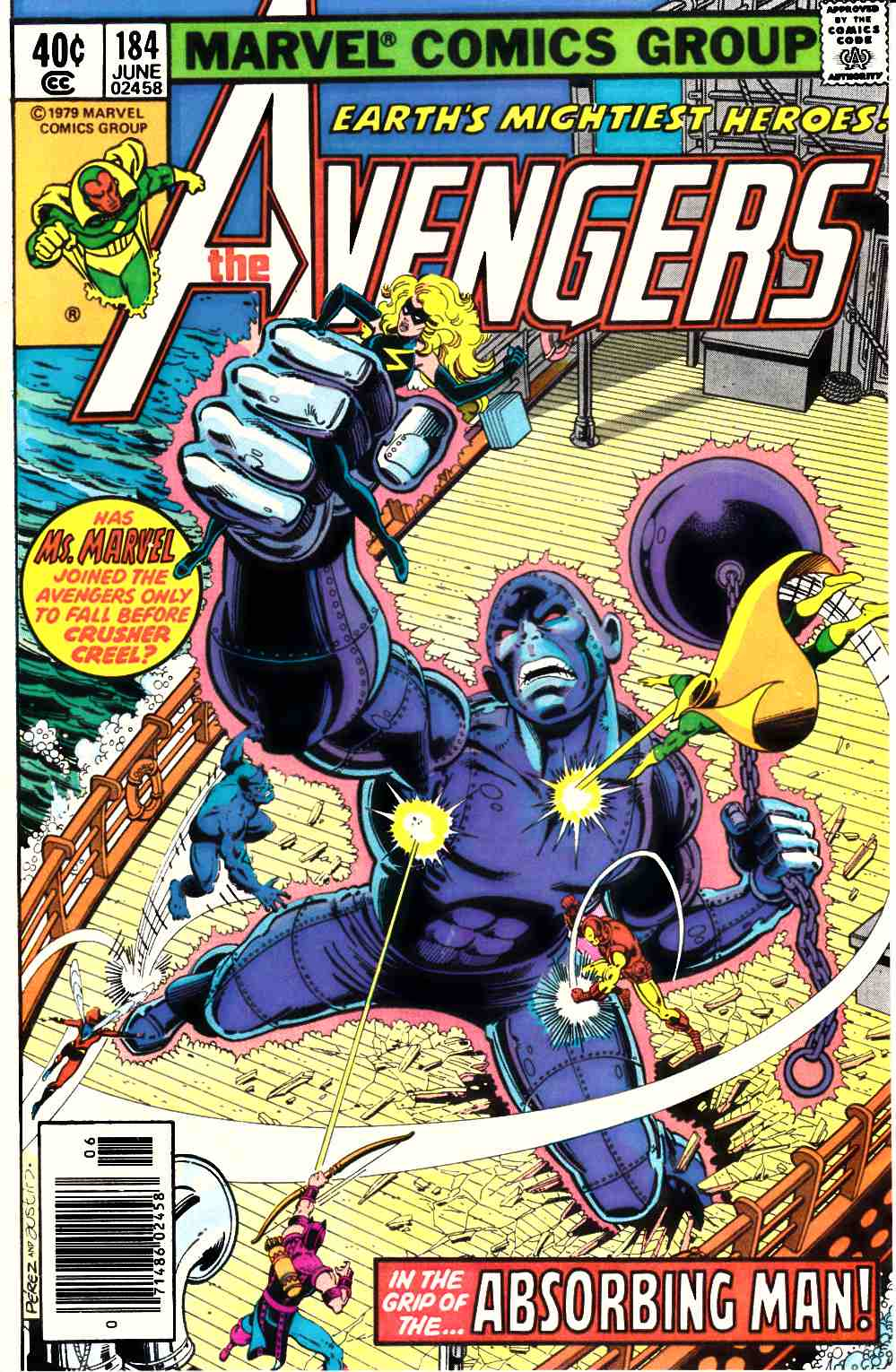 Avengers #184 Newsstand Edition Very Fine (8.0) [Marvel Comic] LARGE