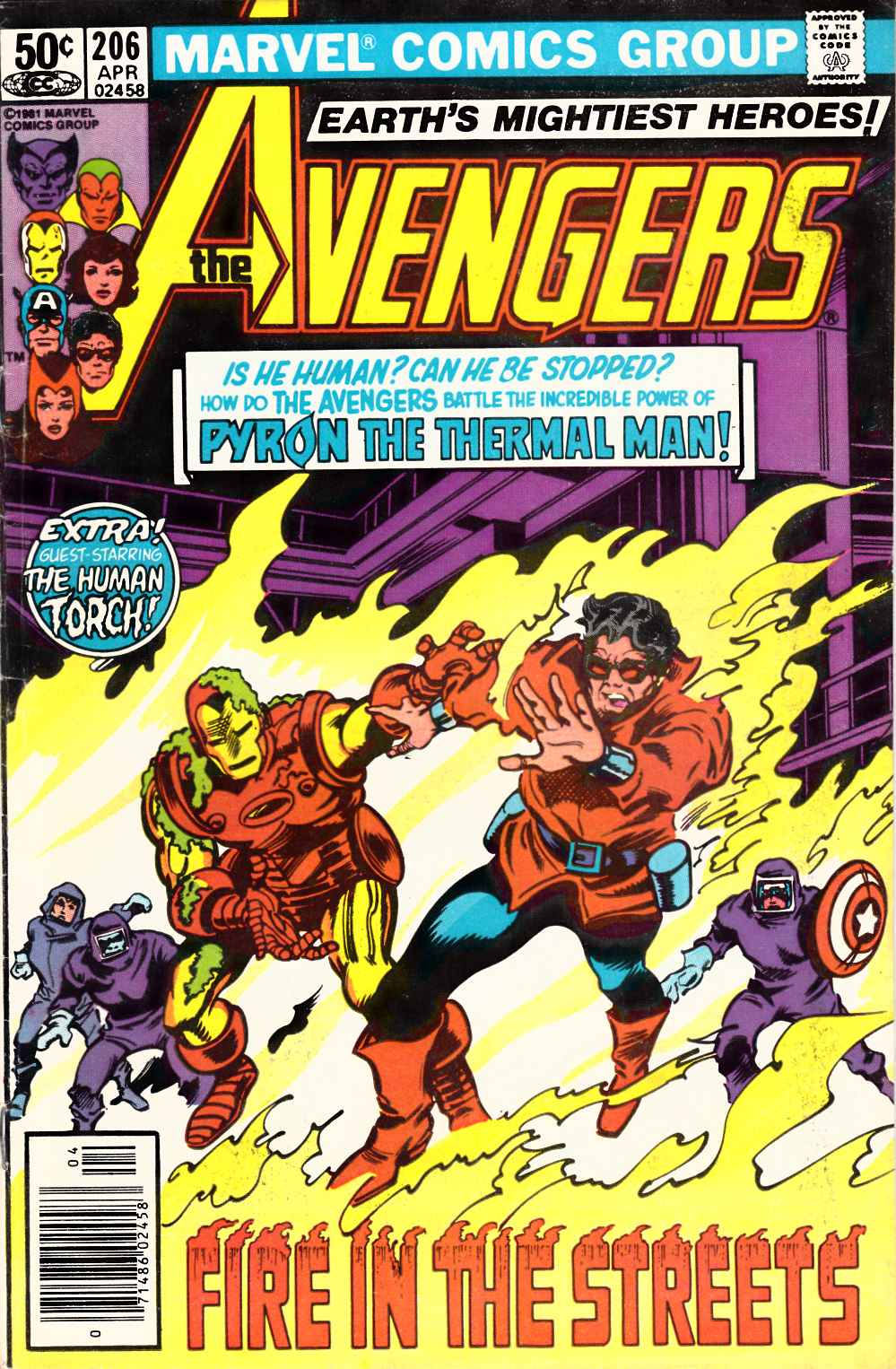 Avengers #206 Newsstand Edition Very Good (4.0) [Marvel Comic] LARGE
