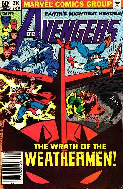 Avengers #210 Newsstand Edition Good/Very Good (3.0) [Marvel Comic] LARGE