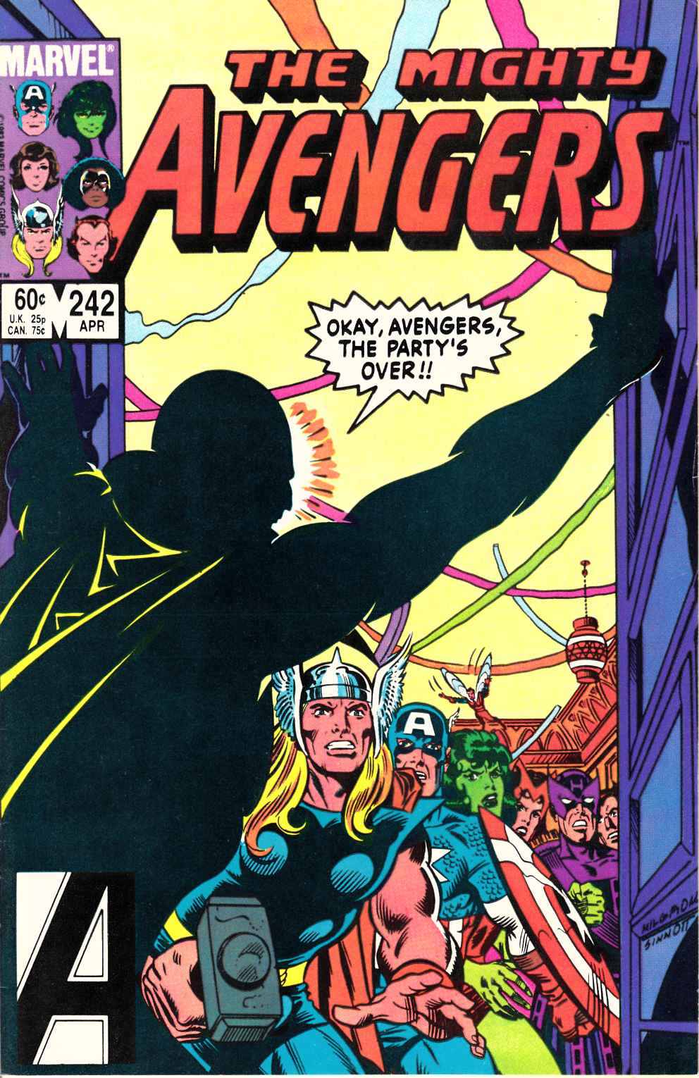 Avengers #242 Near Mint Minus (9.2) [Marvel Comic] LARGE