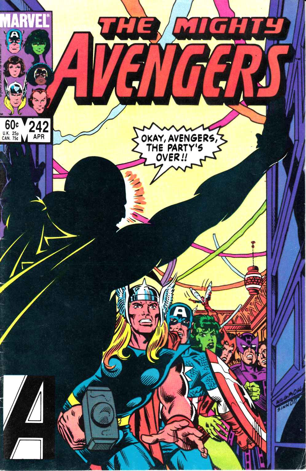 Avengers #242 Very Good/Fine (5.0) [Marvel Comic] LARGE