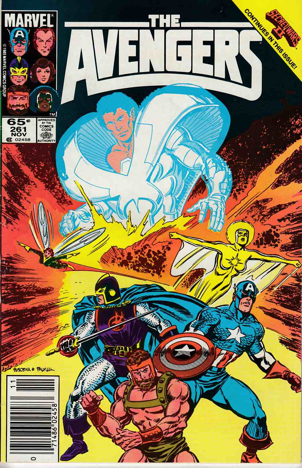 Avengers #261 Newsstand Edition Fine Minus (5.5) [Marvel Comic] LARGE