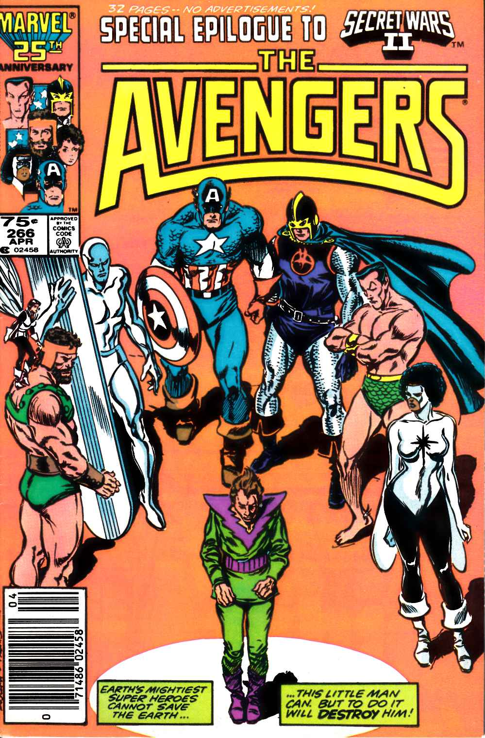 Avengers #266 Newsstand Edition Very Fine (8.0) [Marvel Comic] LARGE