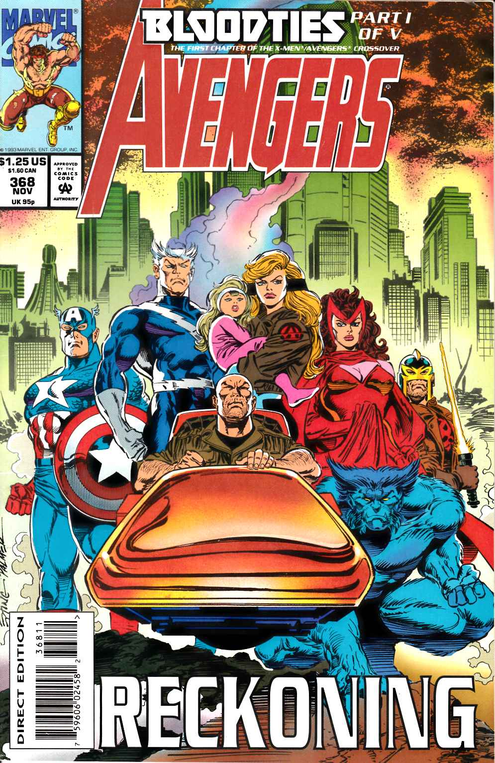 Avengers #368 Near Mint Minus (9.2) [Marvel Comic] LARGE
