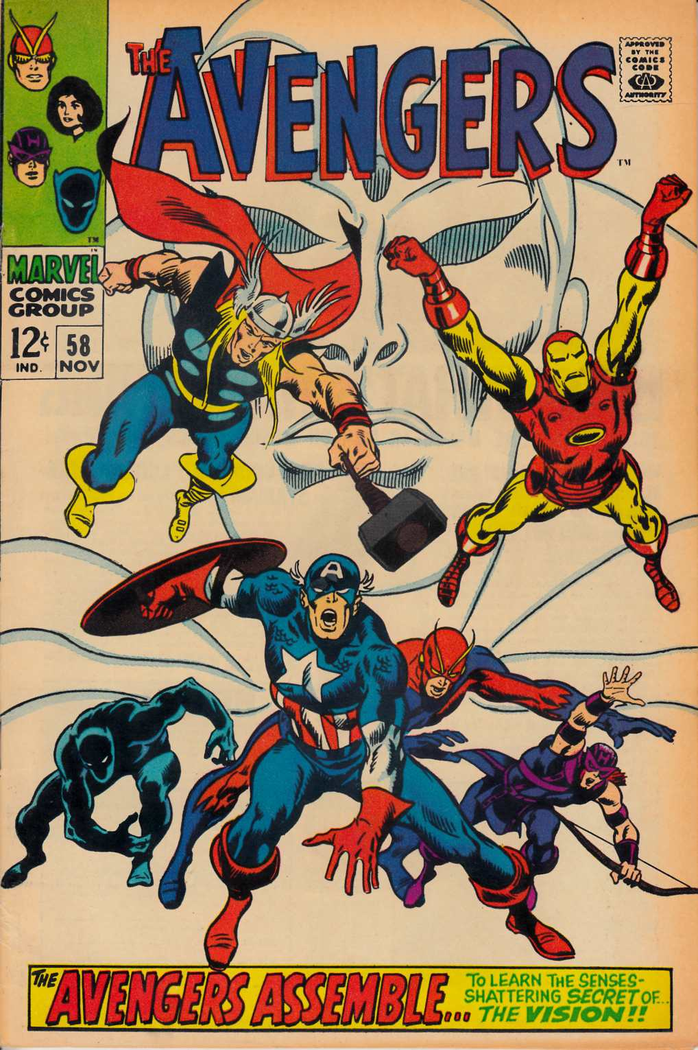 Avengers #58 Very Fine (8.0) [Marvel Comic] THUMBNAIL