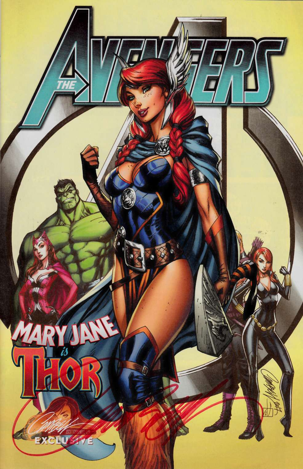 Avengers #8 J Scott Campbell Exclusive Mary Jane Variant Cover B Signed [Marvel Comic]