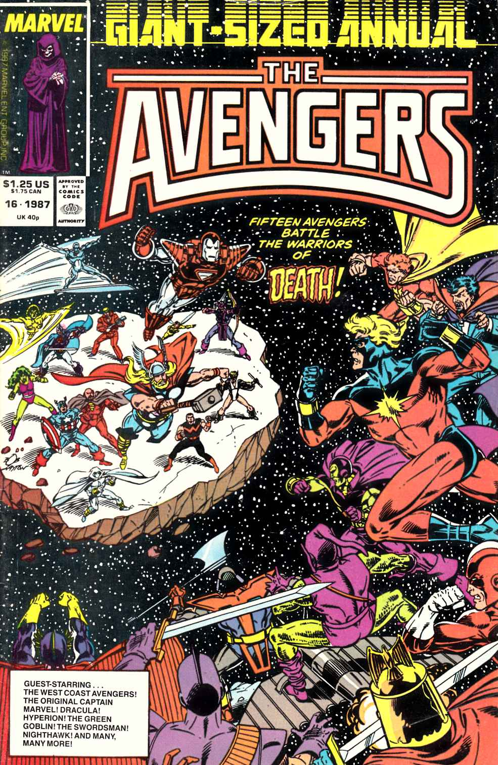 Avengers Annual #16 Fine (6.0) [Marvel Comic] LARGE