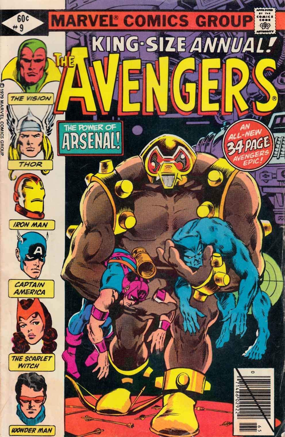 Avengers Annual #9 Good (2.0) [Marvel Comic] LARGE