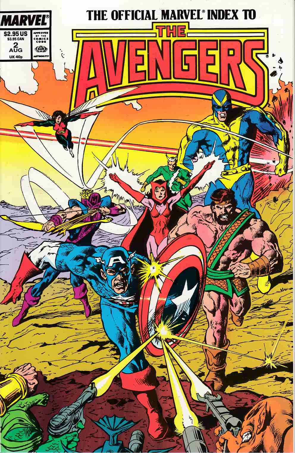 Official Marvel Index Avengers #2 Near Mint (9.4) [Marvel Comic] LARGE
