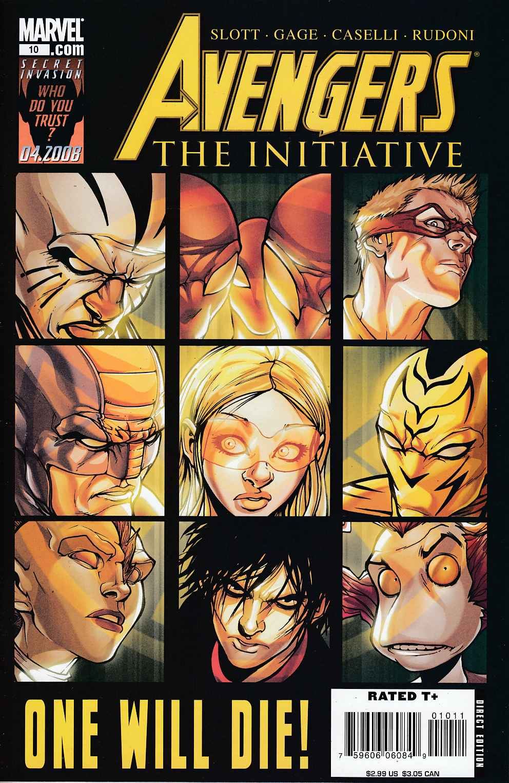 Avengers Initiative #10 Near Mint Minus (9.2) [Marvel Comic]