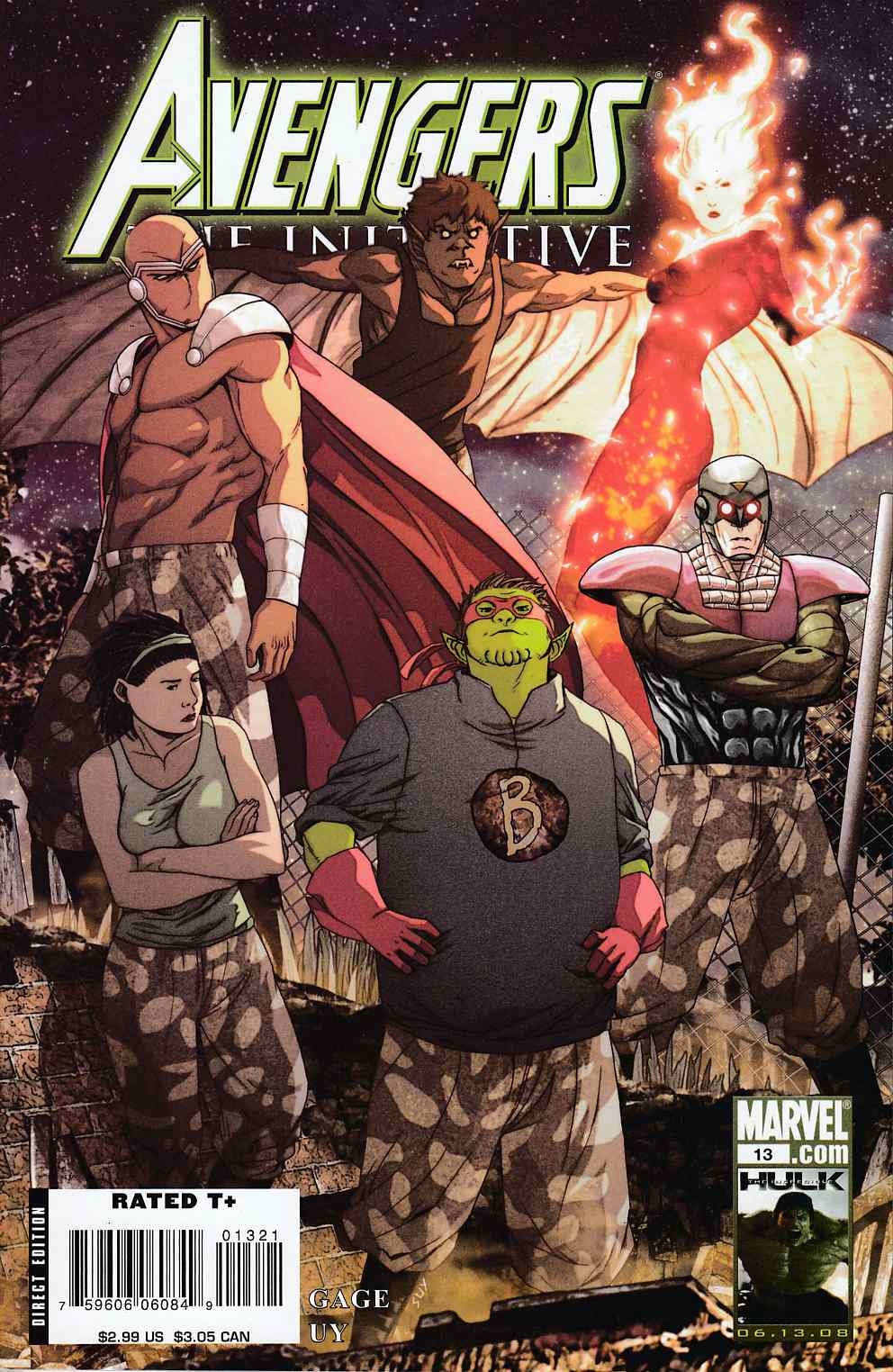 Avengers Initiative #13 Skrull Variant Cover Near Mint (9.4) [Marvel Comic]