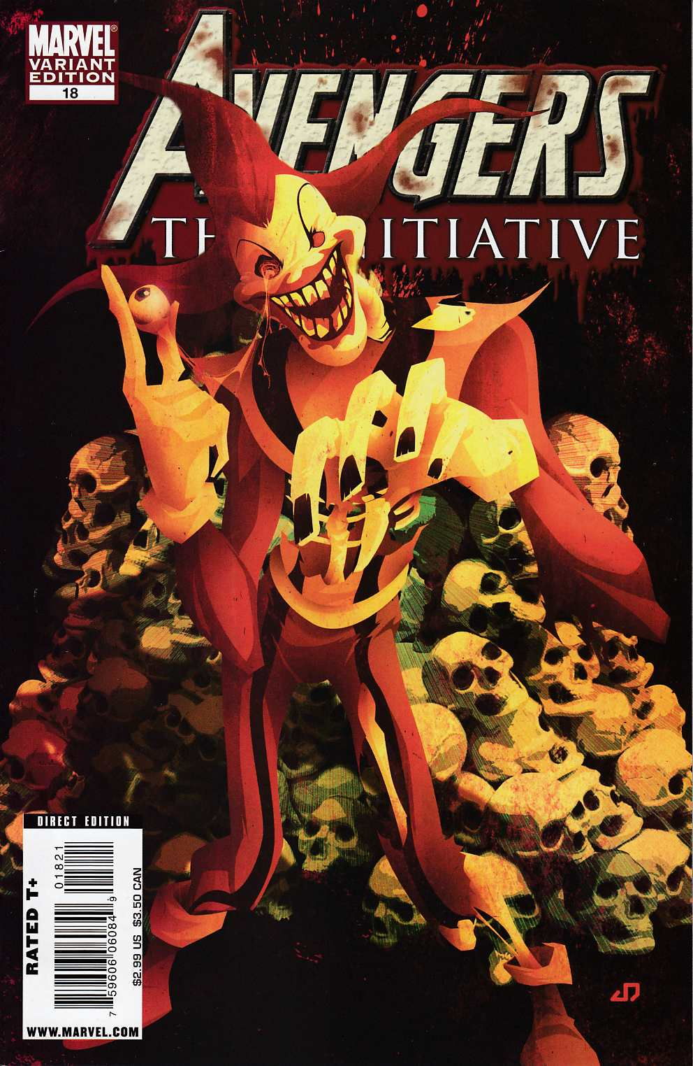 Avengers Initiative #18 Zombie Variant Cover Very Fine (8.0) [Marvel Comic] LARGE