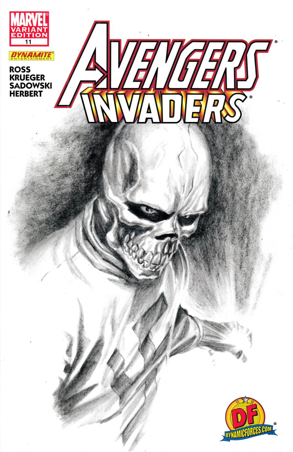 Avengers Invaders #11 DF Ross Variant Cover Near Mint (9.4) [Marvel Comic] THUMBNAIL