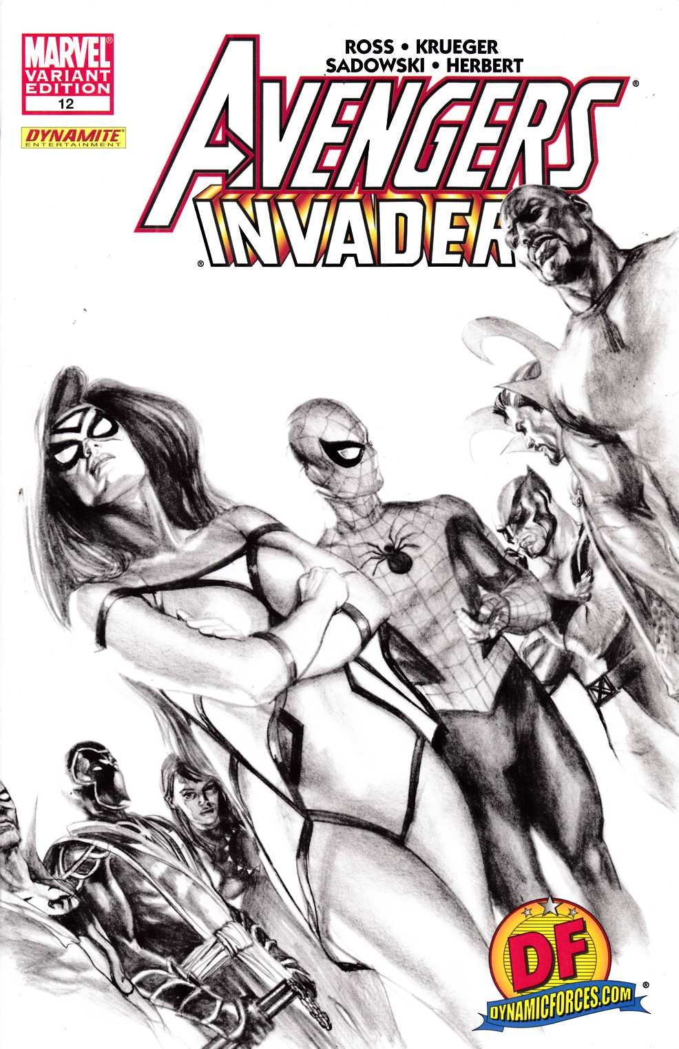 Avengers Invaders #12 DF Ross Variant Cover Very Fine (8.0) [Marvel Comic] THUMBNAIL