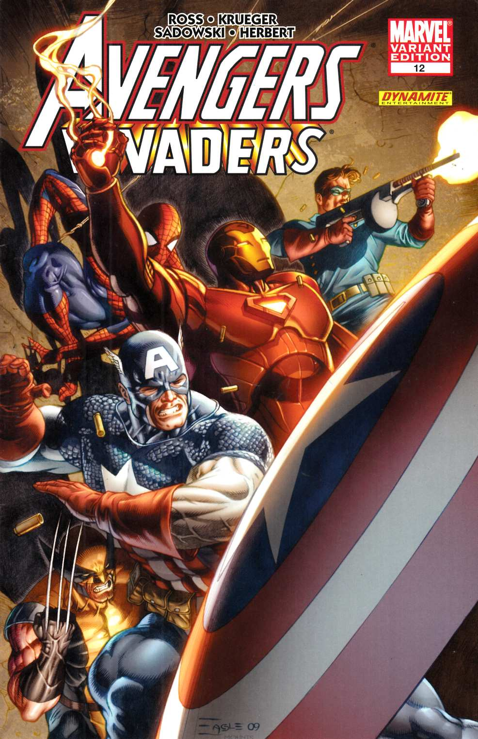 Avengers Invaders #12 Eaglesham Variant Cover Very Fine (8.0) [Marvel Comic] THUMBNAIL
