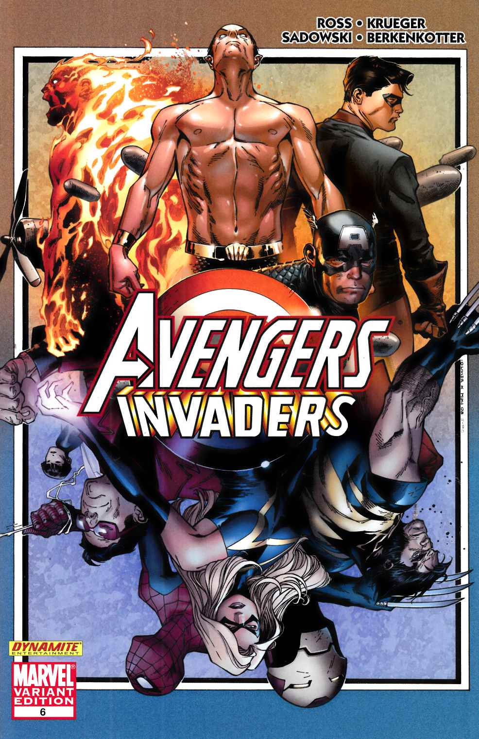 Avengers Invaders #6 Coipel Variant Cover Near Mint (9.4) [Marvel Comic] THUMBNAIL