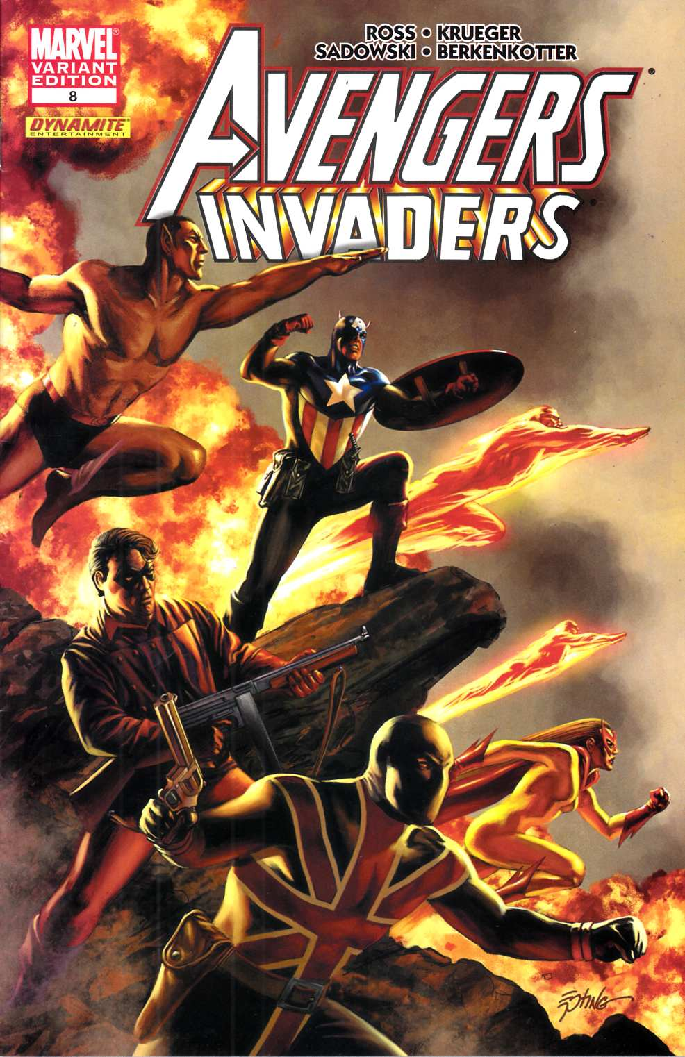 Avengers Invaders #8 Epting Variant Cover Very Fine (8.0) [Marvel Comic] THUMBNAIL