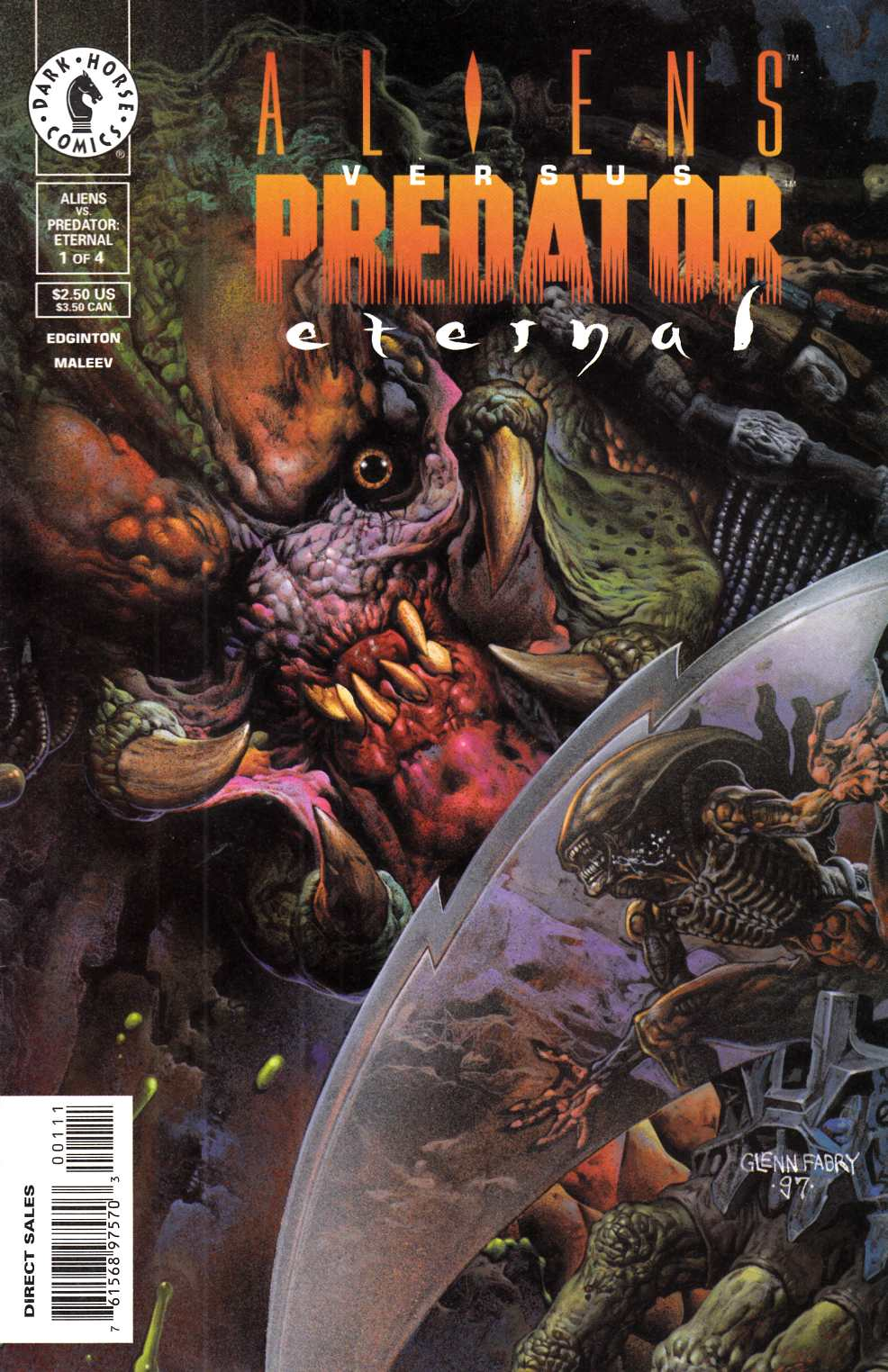 Aliens vs Predator Eternal #1 Near Mint Minus (9.2) [Dark Horse Comic] THUMBNAIL