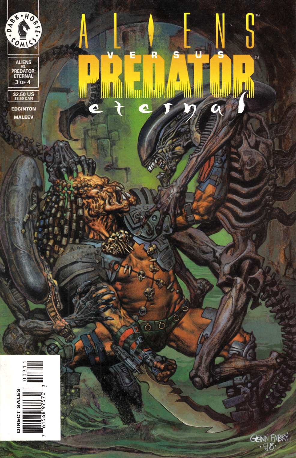 Aliens vs Predator Eternal #3 Very Fine (8.0) [Dark Horse Comic] THUMBNAIL