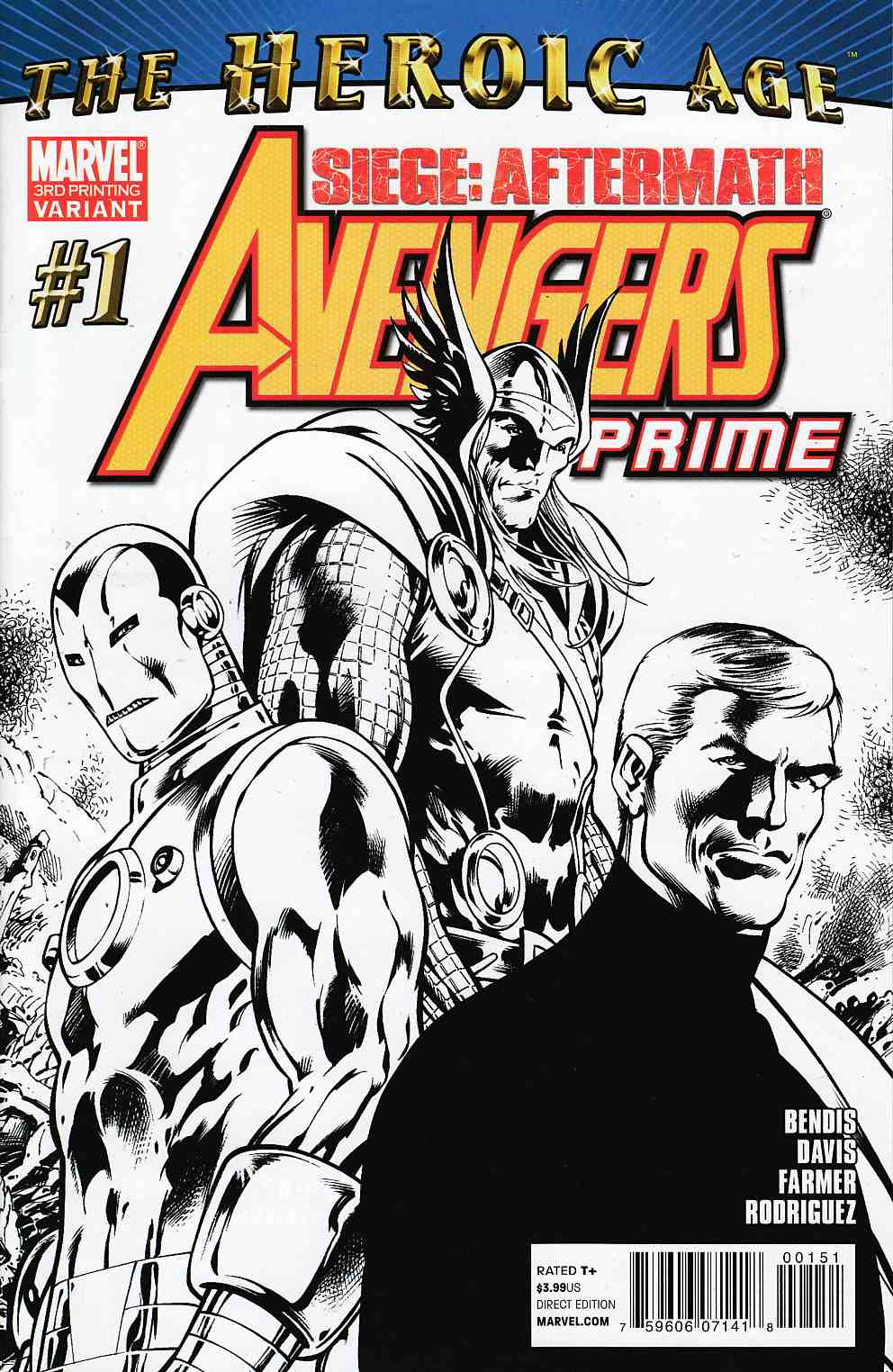 Avengers Prime #1 Third Printing Near Mint (9.4) [Marvel Comic] THUMBNAIL